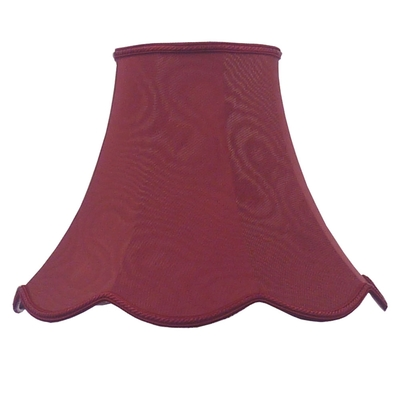 Scalloped Bowed Candle Burgundy Moire